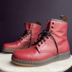 Dr Marten's 1460 Newton Leather DM's Lite Cherry Red